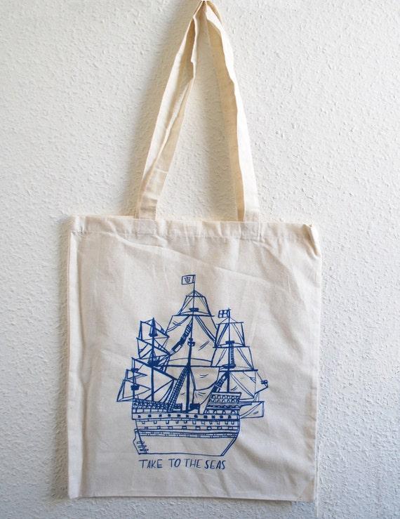 The Seas- Natural Tote bag