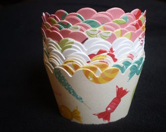 Candy Land Cupcake Wrappers (12)