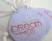 Handmade Recycled Paper Tags Lilac Dream  - Set of 10 - mamacateyes
