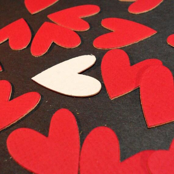 18 Red Heart Mat Board Die Cuts