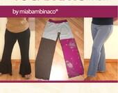 Yoga Pants Women PDF sewing PATTERN, ruffle pants, maternity pants, upcycle pants, pijamas