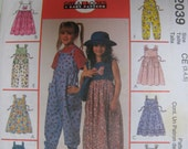 Girls Jumper & Jumpsuit McCalls 2039 Sewing Pattern Size 3-5