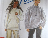 Girls & Boys Fleece Tops New Look Sewing Pattern 6910 Use Fleece or Sweatshirt Fleece