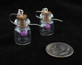 Purple Glow in the Dark Fairy Bottle Earrings Legend of Zelda
