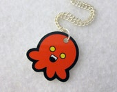 Fiery Red Vampire Octopus Necklace