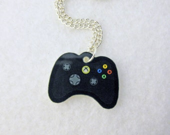 Acrylic Black XBOX 360 Controller Gamer Necklace