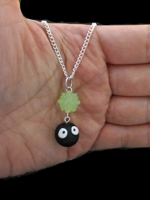 Choose your Color Konpeito Dustball Soot Sprite Studio Ghibli Anime Necklace