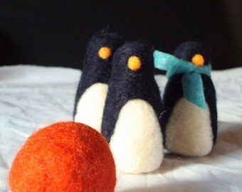 Penguin Bowling Needle Felting Kit