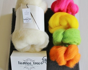 Starter Needle Felting Kit- BRIGHTS