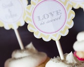 Cupcake Toppers - custom toppers or party circles - PRINTABLE only
