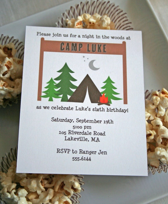 Camping Birthday Invitations Printable as luxury invitations layout