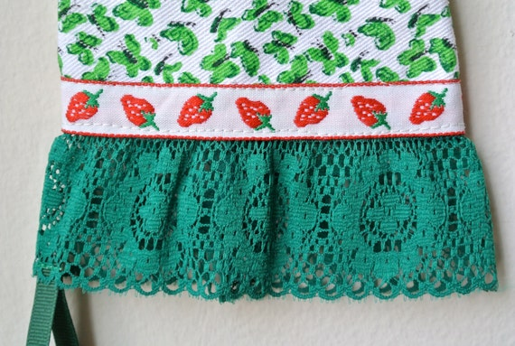 Designer Garden Gloves - As seen in Better Homes and Gardens DIY Magazine - Butterflies, Strawberries and Green Lace - One Size