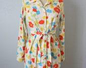 Vintage bright floral dress S/M