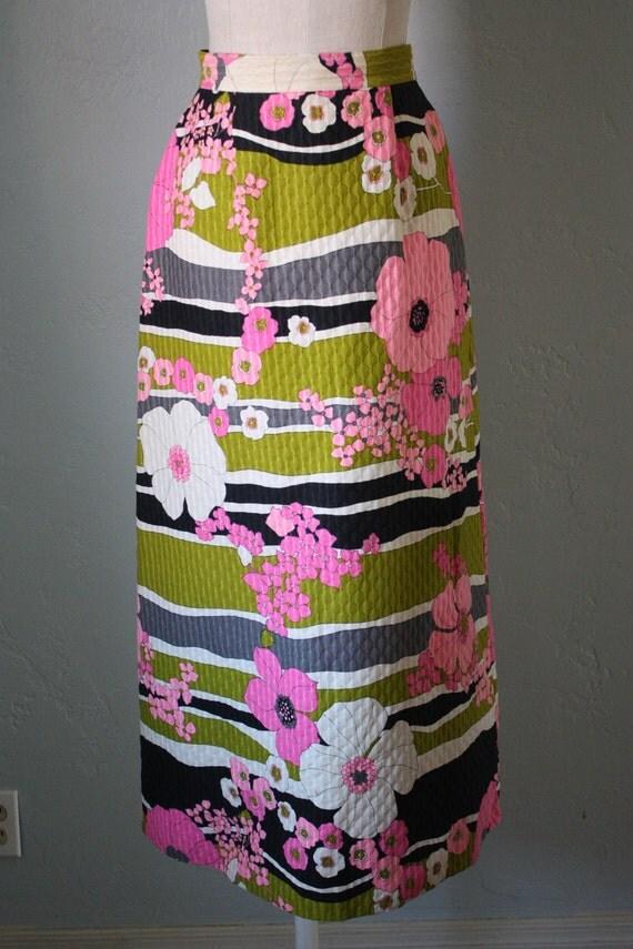 vintage floral maxi skirt sm
