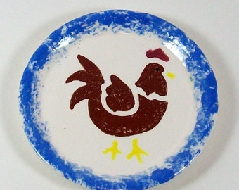 Coasters with Rooster - Spoon Rest - Handmade Ceramic