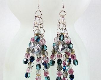 Crystal Dangle Earrings | Handmade Crystal Earrings | Hand Crafted Crystal Earrings | Crystal Drop Earrings