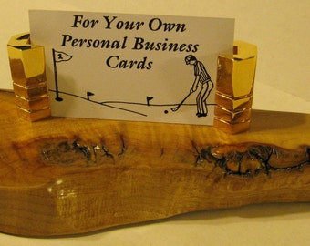 Business Card Holder Made Of Maple Burl wood