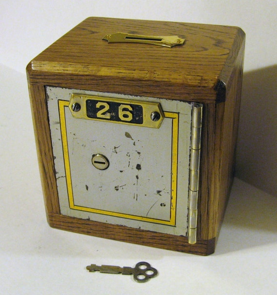 Bank Safe Made From CIRCA 1905 Safe Deposit Box With By