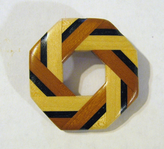 Wood Pin Made Of  A Variety Of Woods