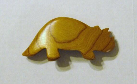 Dinosaur Hair Clip Made Of Cherry Wood