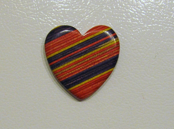 Heart Refrigerator Magnet Made Of Wood