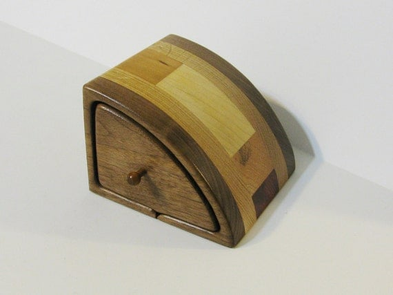 Treasure Box With Secret Drawers Made Of Five Woods