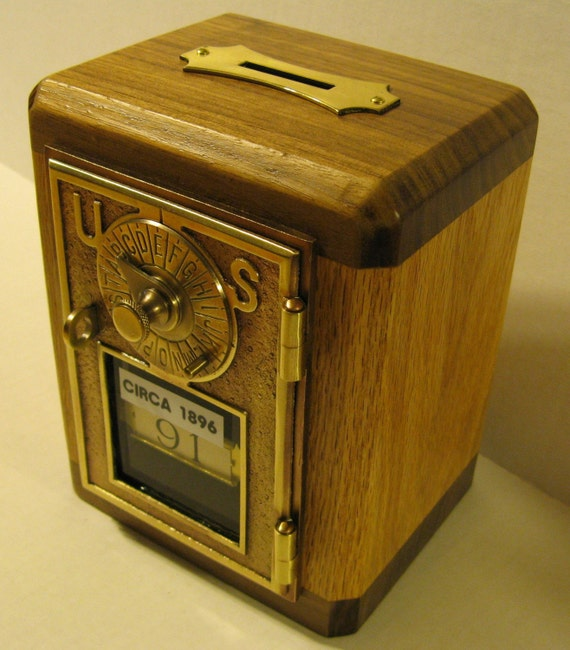 Bank/Safe Made From Antique Post Office Box Door CIRCA 1896