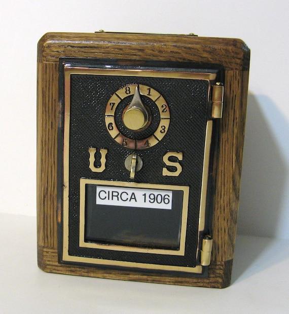 Post Office Box Door 1906 Bank  Combination Lock