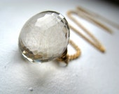 Golden Rutilated Quartz Necklace In Gold Filled Wire Wrapped Gemstone - A Roll In The Hay