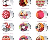 3.5 inch Pocket Mirrors with Storage Bag - Choose from 48 Prints - Half Price Sale