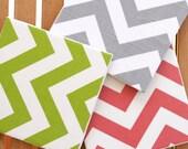 Chevron Trivet - Choose your color - Coral, Gray, or Chartreuse - Tile Trivet