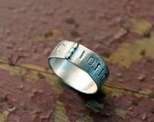 Binary Code Ring District 9 Edition sterling silver