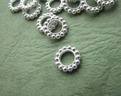 24 pcs. 9 mm Circle Spacer, Silver Plated