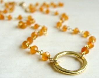 Amalfi Necklace with Carnelian