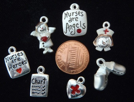 DESTASH Nurse charm charms mix lot 4
