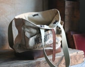 Leather Bottomed Canvas Carryall