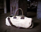 Men's Canvas and Leather Duffel Bag