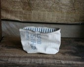 Recycled Cotton Feedsack Utility Pouch
