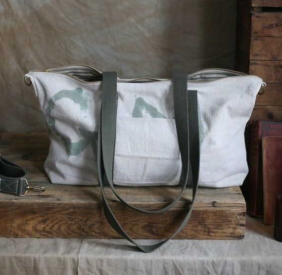 Recycled Canvas Weekend Bag