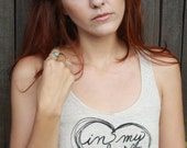 """Shakespeare Quote """"In My Heart Of Hearts"""". Eco-Friendly Racerback Tank in XL"""