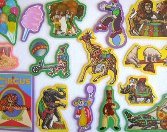 Felt Board Story, Circus Set, Circus Flannel Board Set, Homeschool Preschool