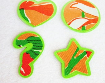 Green Fabric Kitchen Magnet Set
