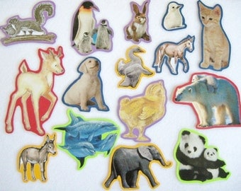 Baby Animals Felt Board Set, Teacher's Resource, Home School Preschool, Animals Flannel Board