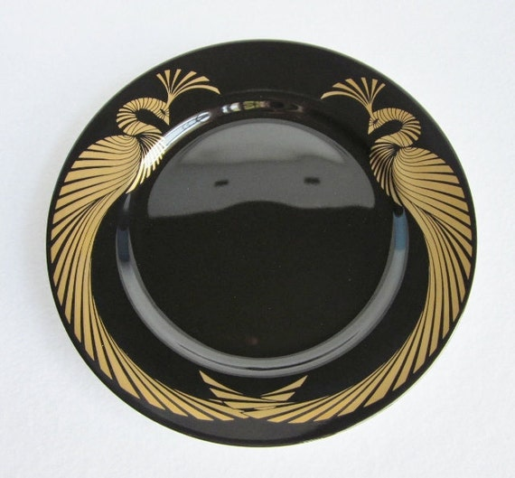 Vintage Fitz and Floyd Phoenix d'Or Collectible Plate, Set of 4