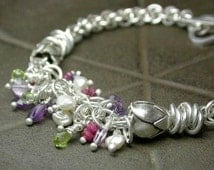 TUTORIAL - Shaggy Chain Maille Rose Bracelet - Instant Download