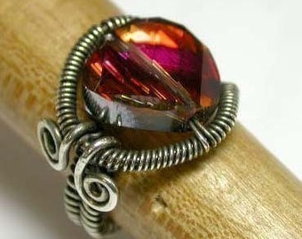 Wire Wrapped and Coiled Ring - Tutorial Only - Instant Download