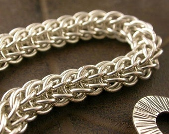 TUTORIAL - Full Persian Chain Maille Bracelet - Instant Download