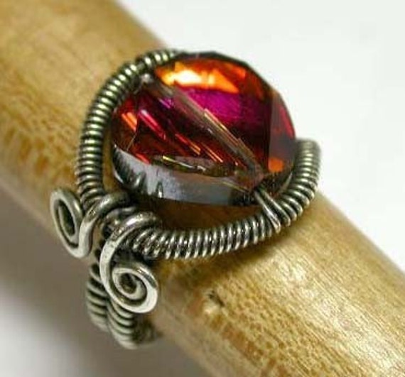 Wire Wrapped and Coiled Ring - Tutorial Only