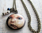 Creepy Baby,Doll  Locket