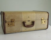 Vintage Suitcase Leather Trimmed Mendel Wardrobe Luggage